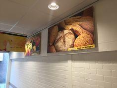 Aankleding nieuwe #Jumbo in Harderwijk. Woodprint panelen 140 x 70 cm #printophout