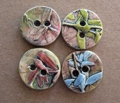 Buttons of Clay