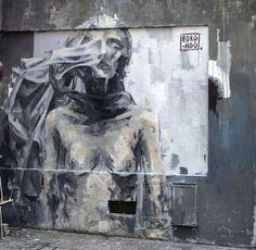 Borondo #streetart  Paris, France - 2013  Photo courtesy of Rom Levy  ♥♥♥