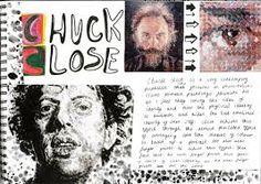 Image result for chuck close art sketchbook
