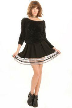 Shades of Gray Skirt – NoFashionDeadline.com