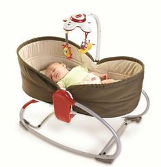 Amazon.com: Tiny Love 3 in 1 Rocker Napper, Brown: Baby -- Goes from lay-flat Bassinet, to a reclined Rock N Play, to a vibrating/music playing seat and is collapsible for traveling