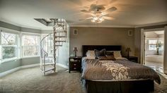 I want a winding staircase in my bedroom.