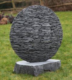 Slate sphere by Stephen Kettle http://www.stephenkettle.co.uk/