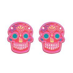 Sugar Skull Pink Neon : Schwings Shoe Wings