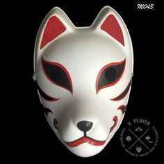 Anbu is a squad that performs special missions such as assassinations and torture. Each of the Ninja wear a mask to hide their identity. Japanese Fox Mask, Japanese Dogs, Anbu Mask, Naruto Clothing, Pokemon Costumes, Kitsune Mask, Manga Naruto, China Dinnerware Sets, Mask Drawing