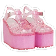 Jelly Shoes, Jelly Sandals, Shoes Sandals, Goth Aesthetic, Aesthetic Fashion, Glitter Jelly, Pink Glitter, Kawaii Shoes, Chica Anime Manga