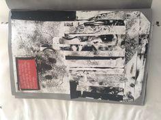 Collage of scrap mono printing.