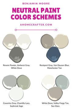 Benjamin Moore Neutral Color Schemes - A Home Crafter