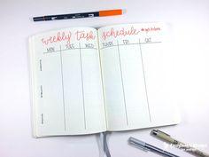 march bullet journal weekly schedule spread