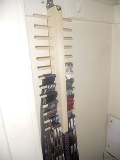 This would be perfect for storing scarves if the pegs were longer and slightly more spread apart