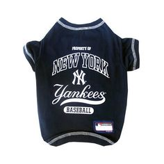 c182b5ca25dd9f New York Yankees Dog Tee Shirt - Yankees dog jersey - MLB dog clothes -  Baseball