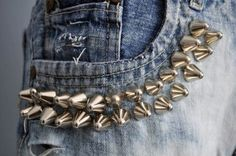 reworked jeans - ideas for $5 jeans from the Kauai Humane Society Thrift Store