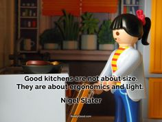 Good #kitchens are not about size. They are about ergonomics and light. Nigel Slater
