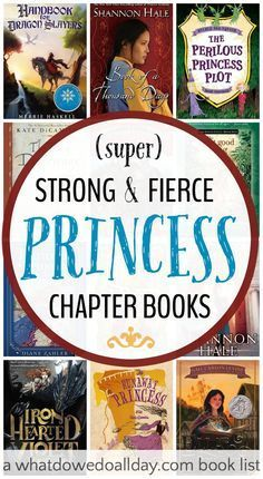 Awesome princess books for both boys and girls. Some great titles on this book list for kids.