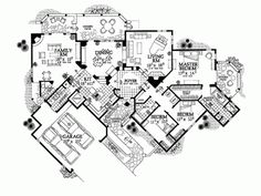Home Plans - Square Feet, 3 Bedroom 2 Bathroom Adobe Home with 2 Garage Bays Home Design Plans, Plan Design, Adobe House, Desert Homes, Architecture Plan, Southwestern Style, House Floor Plans, House Design, How To Plan