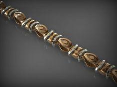 bracelets print model Chain Link 71 bracelet bracelets chain, formats STL, ready for animation and other projects Mens Gold Bracelets, Jewelry Bracelets, Chain Jewelry, Gold Jewelry, Jewlery, Gold Fashion, Fashion Jewelry, Men Fashion, Face Jewellery