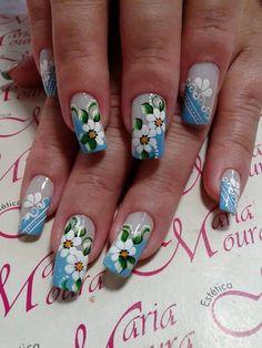 Trendy Nails, Cute Nails, Stiletto Nail Art, Nails Only, Crazy Nails, Nail Patterns, April Showers, Cute Nail Designs, Flower Nails