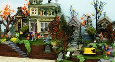 "Dept 56 Lemax Halloween Village Display Platform  27""L St Louis Cemetery No 7"