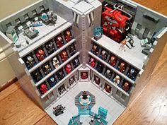 becauseBATMAN's Stark Industries Armory, Iron Man Hall of Armor