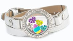 #OrigamiOwl #authentic leather wrap bracelet Living #Lockets and crystals by #Swarovski. All #Easter #charms $5. Customize yours or join my team for a discount at www.charmingsusie.origamiowl.com