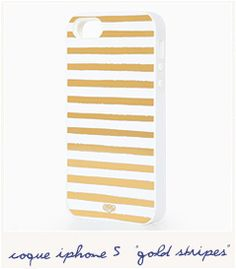 Coque Gold stripes (iPhone 5)