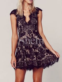 Shop Black Cap Sleeve Lace Dress online. SheIn offers Black Cap Sleeve Lace Dress & more to fit your fashionable needs.