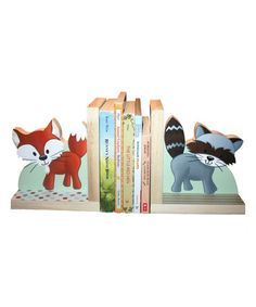 Look at this #zulilyfind! Forest Animal Bookends by Toad and Lily #zulilyfinds