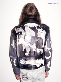 Painted Guernica Jacket. Not sure I'd ever actually wear it, but this is one of my very favorite paintings EVER.