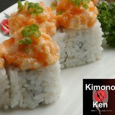 Spicy salmon and unagi are both rich flavors. A perfect twist that's truly craveable!  DYNAMITE MAKI @ KIMONO KEN ~ Spicy salmon,ebiko,unagi & cucumber  #japanesefood #japaneserestaurant #kimonoken #philippines #instafood #foodspotting