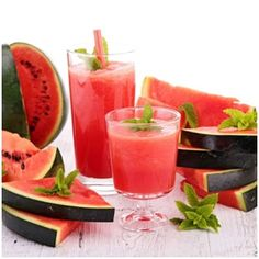 Minty Watermelon Strawberry Yogurt Smoothie Recipe - Nutribullet Recipes