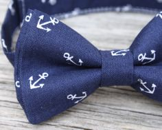 Navy Bowtie  Anchor Bow Tie  Nautical Tie  Boys Navy by littlevys, $18.00