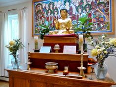 Dharma room altar | Flickr