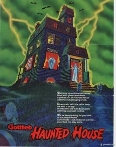 Pinball flyers - arcade game flyers - pinball coils - pinball translites - manuals - parts and supplies for the coin-op amusement hobby. Halloween House, Scary Halloween, Happy Halloween, Pinball Wizard, Trap Door, Halloween Cartoons, Little Games, Columbia Pictures, Old Games