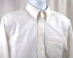 Arrow Mens Wrinkle Free White Oxford Long Sleeve Shirt Size 16 34/35 #Arrow