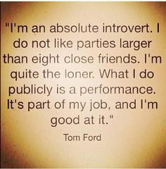 Secret life of the introvert.