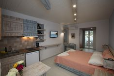 Greece, Villa, Island, Bed, Furniture, Home Decor, Block Island, Homemade Home Decor, Stream Bed