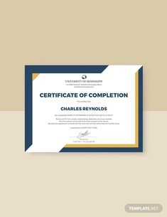 Certificate of Completion Template - 37+ Word, PDF, PSD, InDesign, Illustrator Download!   Free & Premium Templates Certificate Layout, Certificate Of Completion Template, Certificate Design Template, Printable Certificates, Design Templates, Certificate Of Appreciation, Word Doc, Free Design, Microsoft Publisher