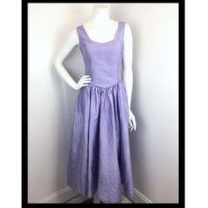 Laura Ashley Dresses & Skirts - Laura Ashley 80's 90's Purple Silk Fit Flare Dress