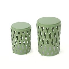 Ellen Outdoor Small And Large Iron Side Table Set (Set Of 2