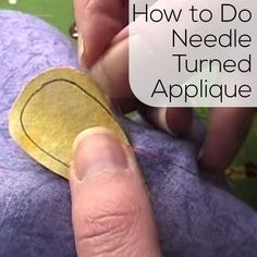 "So, this is the ""old-fashioned"" way to applique. It's definitely a lot more work than appliqueing with fusible adhesive, but you don't get that annoying stiffness, and you don't have any visible stitching. This is the technique used for all those traditional Baltimore Album quilts. It's also the technique I used for my very first …"
