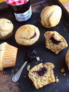 Jam Filled Blackberry Muffins