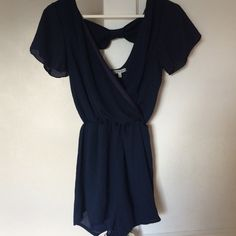 NWOT Charlotte Russe Romper NWOT Charlotte Russe romper. Navy Blue, Size Small!    No Trades  Smoke Free ✈️ Fast Shipping  No Modeling Charlotte Russe Dresses Mini