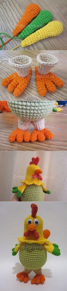Como vincular al gallo por el gancho Crochet Birds, Easter Crochet, Crochet Animals, Crochet For Kids, Crochet Flowers, Crochet Patterns Amigurumi, Crochet Dolls, Knit Crochet, Yarn Animals
