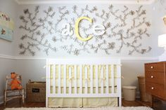 Guys, this nursery accent wall is made of recycled toilet rolls!