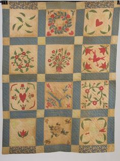c1845 Child's quilt from Virginia  collection of Sandra Starley