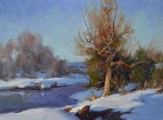 Old Juniper by Albin Veselka Oil ~ 9 x 12
