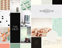 mood board for client branding by jessica comingore.