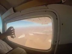 Taking a phone photo from a plane via /r/funny...