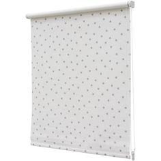 Store enrouleur Deco Mode 'Etoiles' occultant blanc/gris 90 x 190 cm